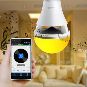 SweetLF Bluetooth LED Bulb with Speaker, Color Changing Adjustable Brightness Compatible with IOS / Android Controlled by APP