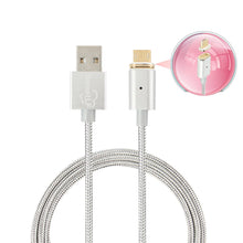 Load image into Gallery viewer, SweetLF Magnetic USB Cable High Speed Sync and Quick Charging Core with LED Status Display for Micro USB Devices