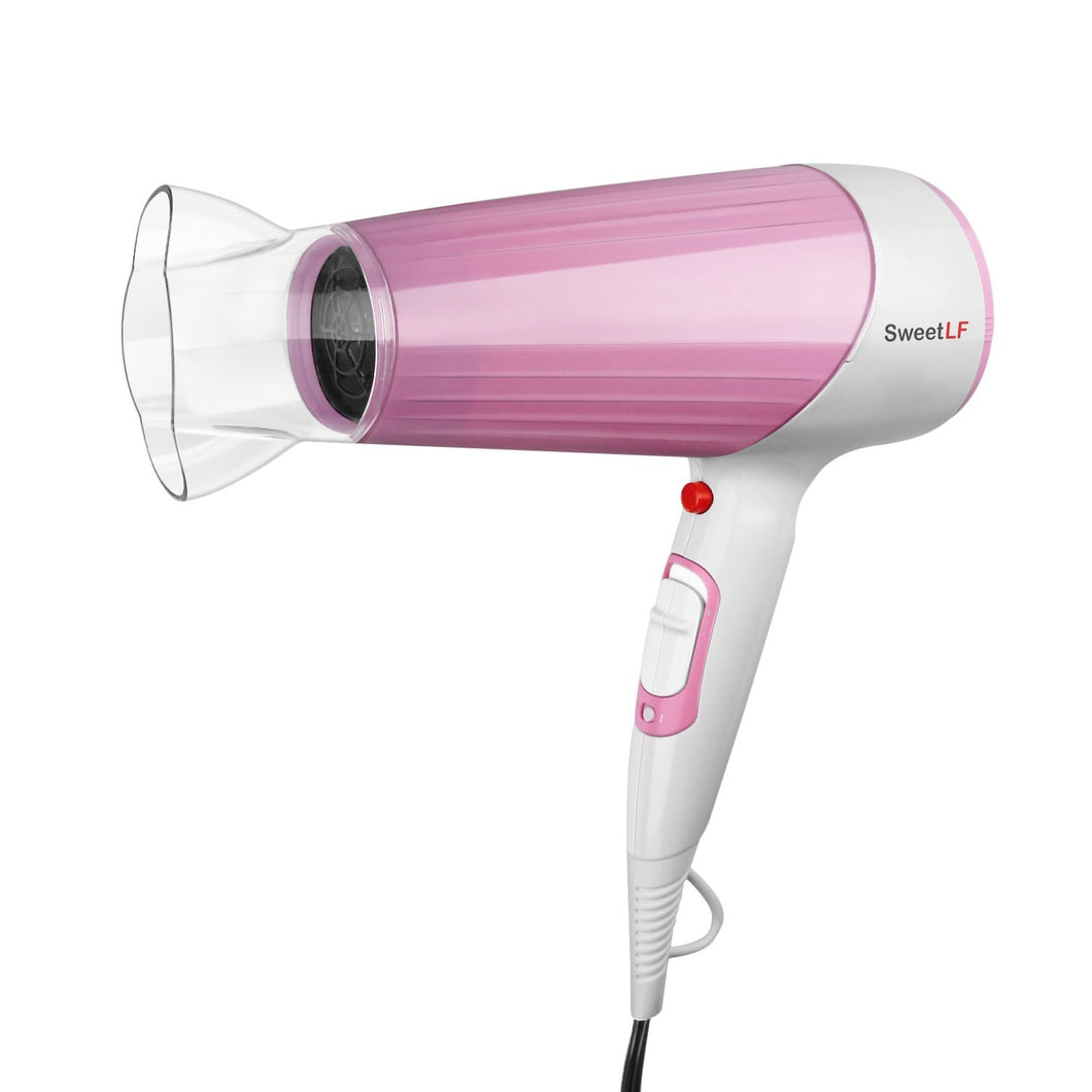 SweetLF Hair Dryer  Ionic Household 1875W Powerful Salon Cold and Hot Wind Hair Styler with 2 Speed and 3 Heat Set,Pink
