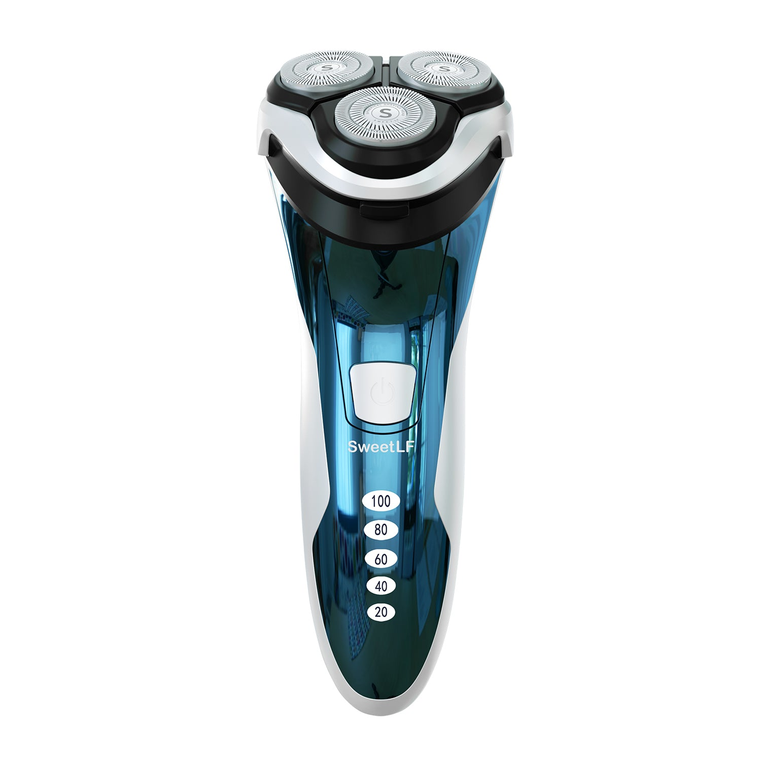 SWS7105 Wet & Dry Waterproof Mens Electric Shaver with Pop Up Trimmer Blue