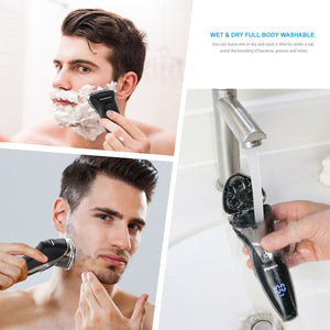 RMS8112 Wet & Dry Waterproof Mens Electric Shaver with Pop Up Trimmer Black