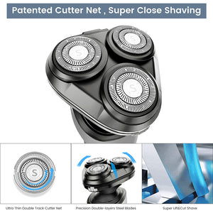 UCN601 Wet & Dry Waterproof Mens Electric Shaver with Nose & Beard Trimmer Gray