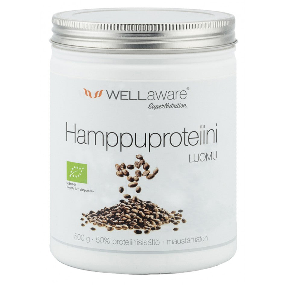 WellAware Hamppuproteiini 500g - Back on Track Finland