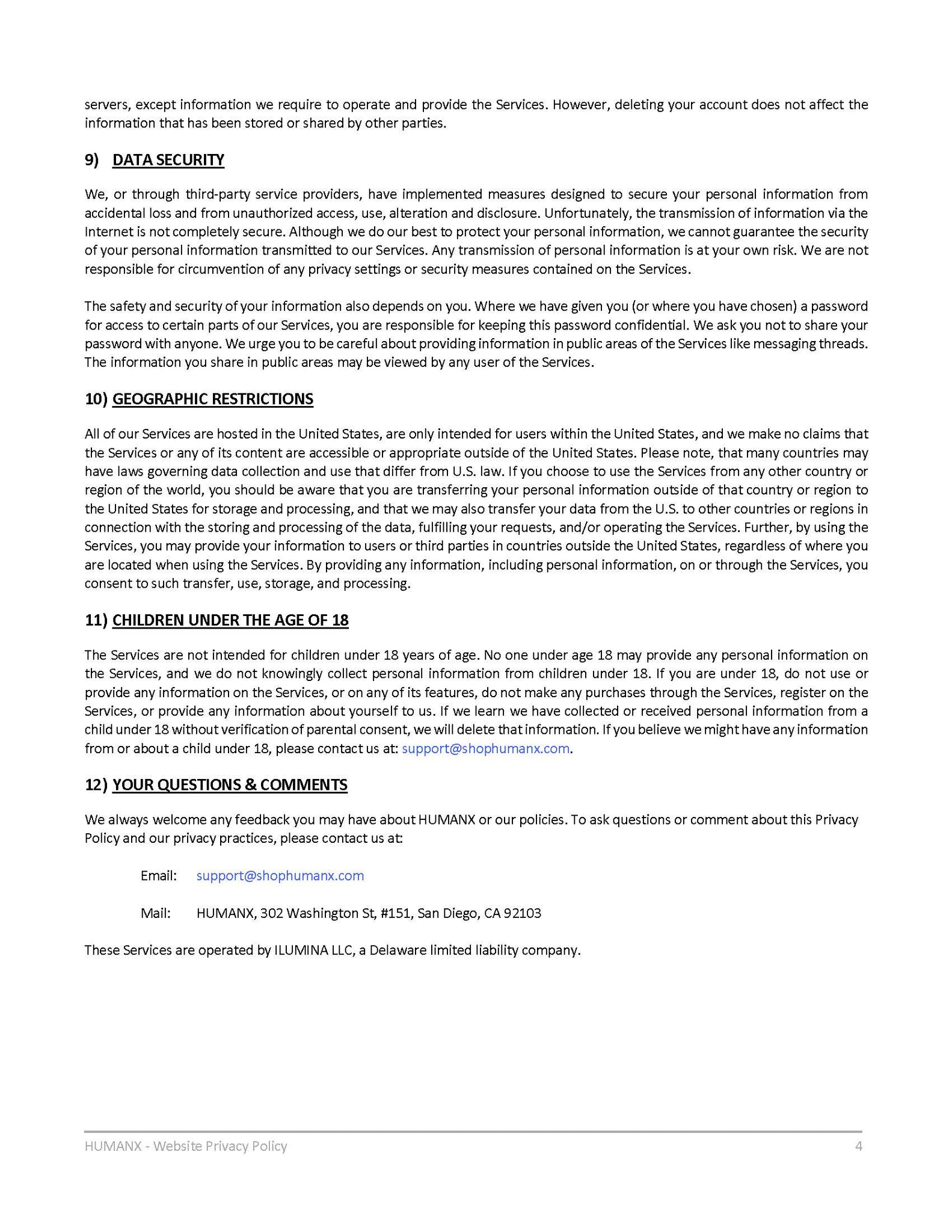Privacy Policy - Page 4