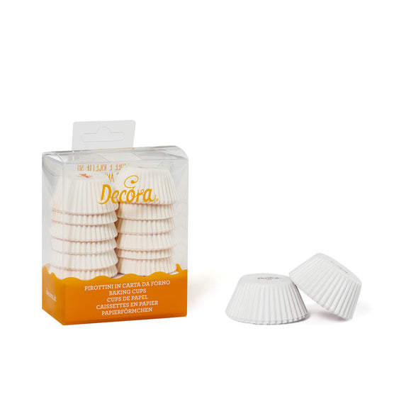 Pirottini mini muffin bianco Decora