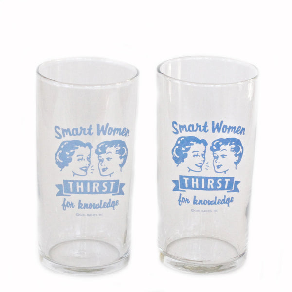 Thirst For Knowledge Small Glass (Set of 2)
