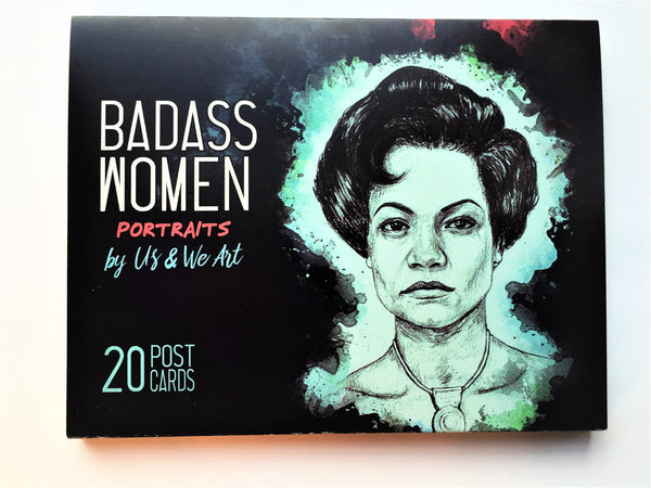 Badass Women Postcard Book