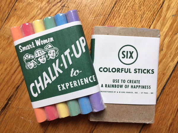 NEW! (sort of) Chalk it up to Experience Chalk (Set of 2)