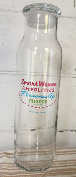 Choose to Vote Glass Water Bottle