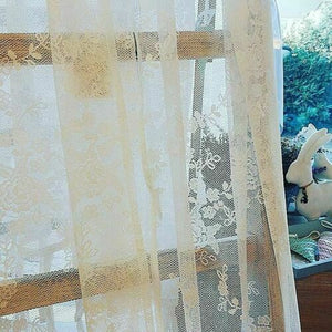 TENDA TENDONE SHABBY PIZZO CIEL COLLECTION 140X290 3 VARIANTI COLORE