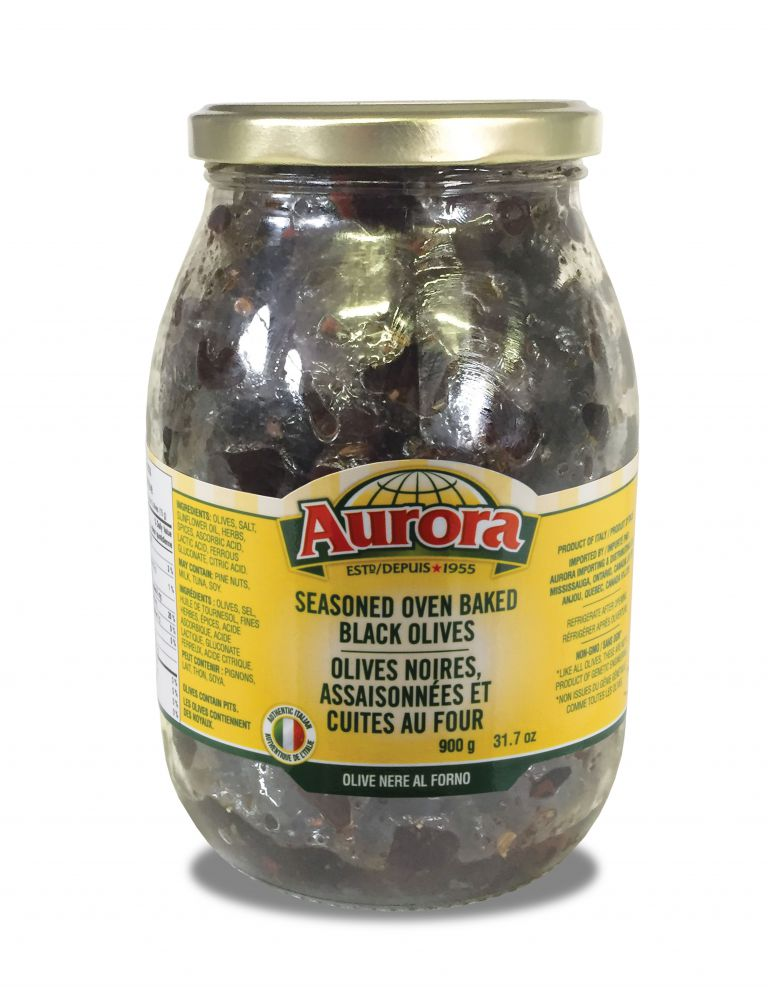 AURORA OLIVES SSND BAKE BLACK 900GR