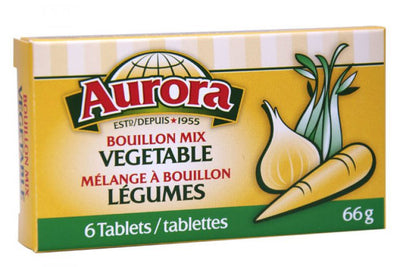 AURORA BOUILLON CUBE VEGETABLE 66GR