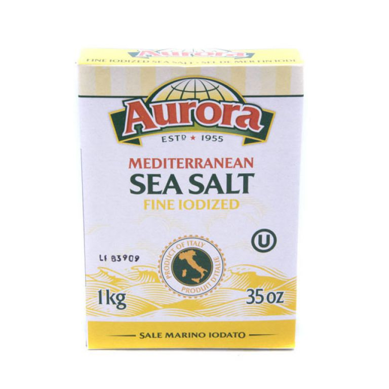 AURORA SEA SALT IODIZED 1KG