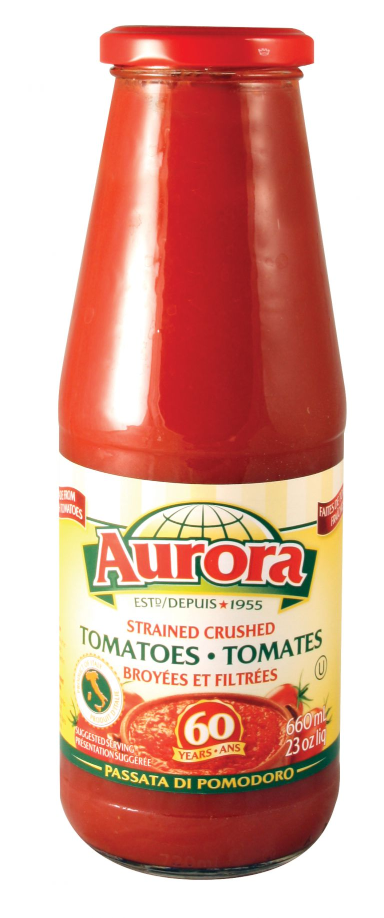 AURORA TOMATO PUREE 660ML