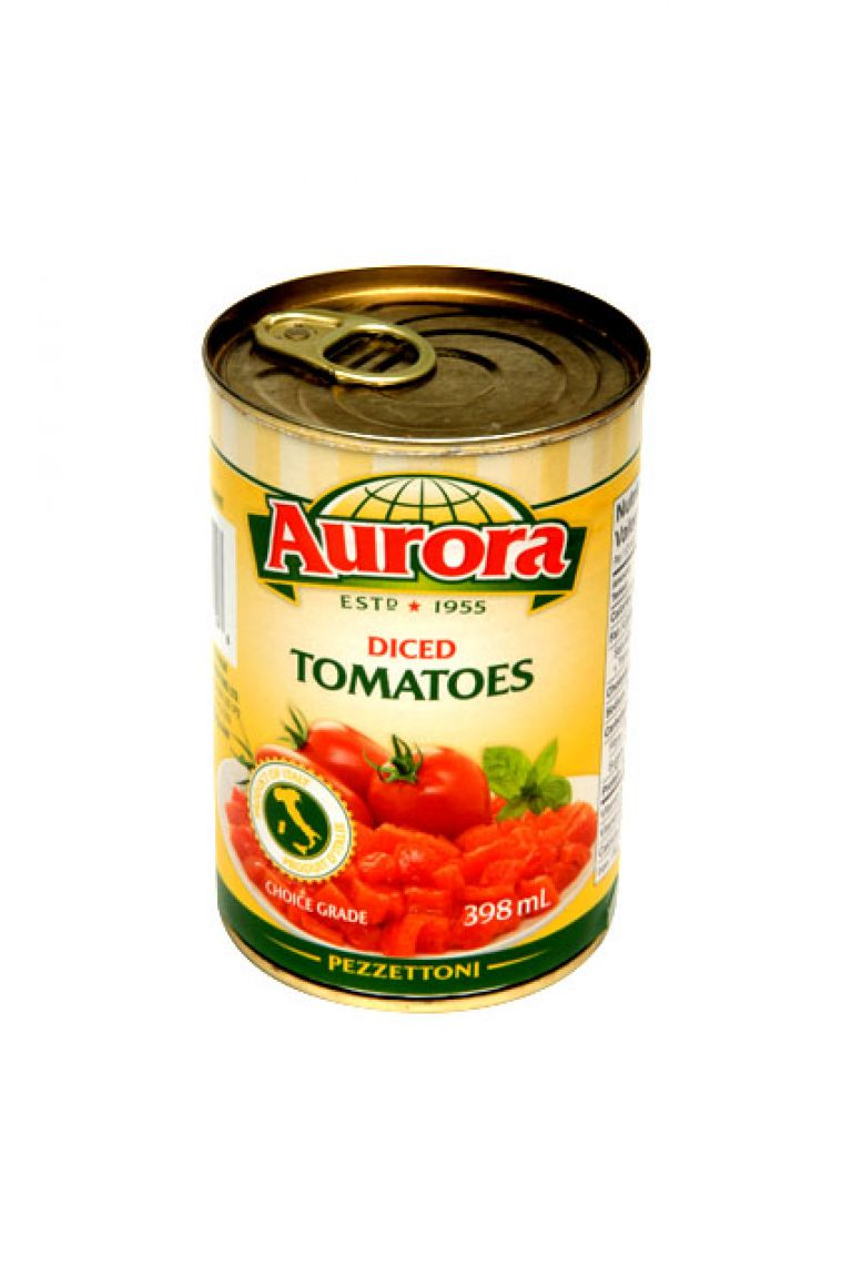 AURORA TOMATOES DICED 398ML