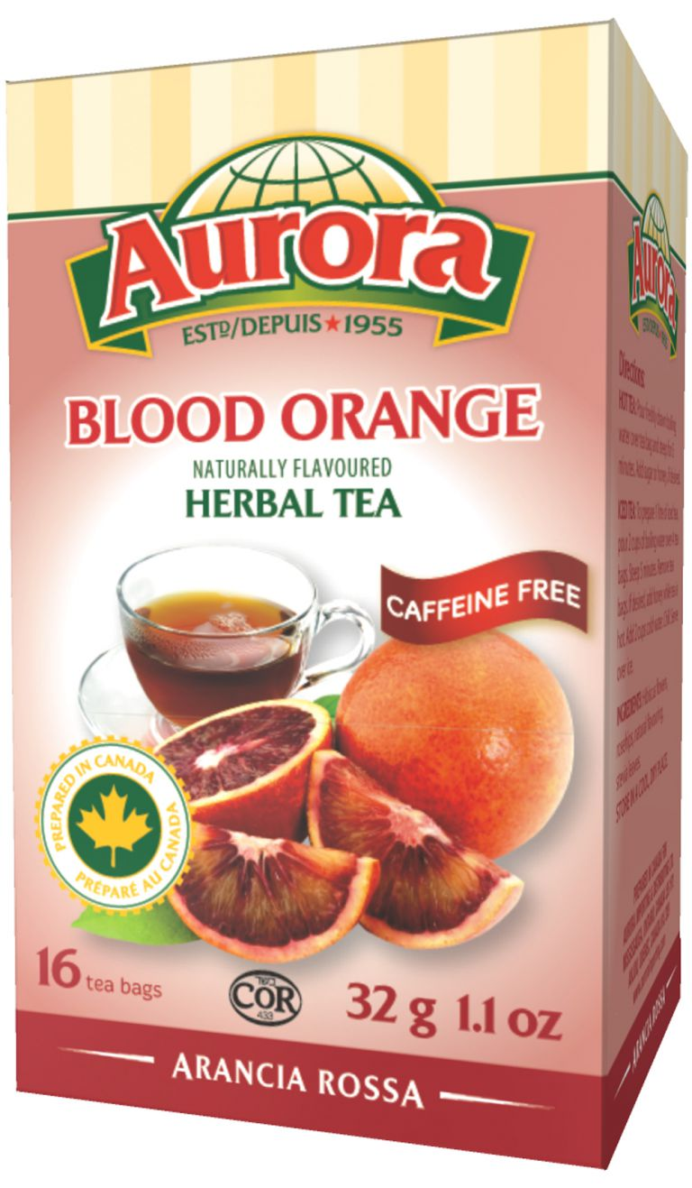 AURORA TEA HERBAL BLOOD ORANGE16PC