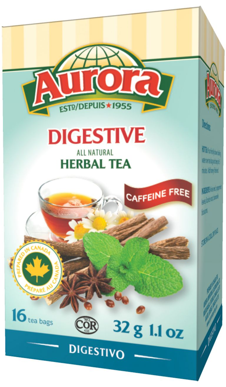 AURORA TEA HERBAL DIGESTIVE 16PC