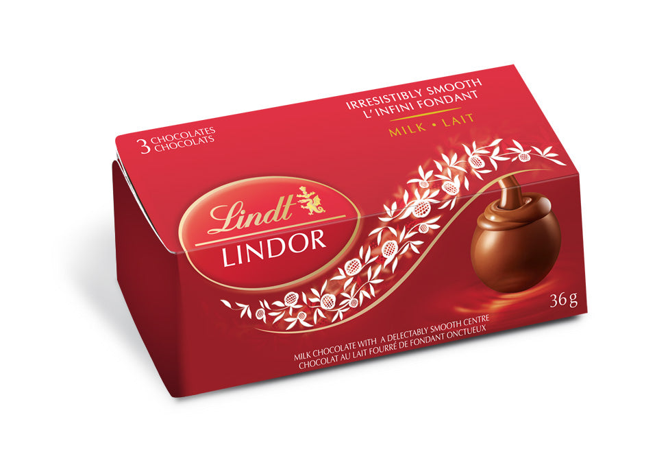 LINDOR SINGLE 3-PACK MILK 36G
