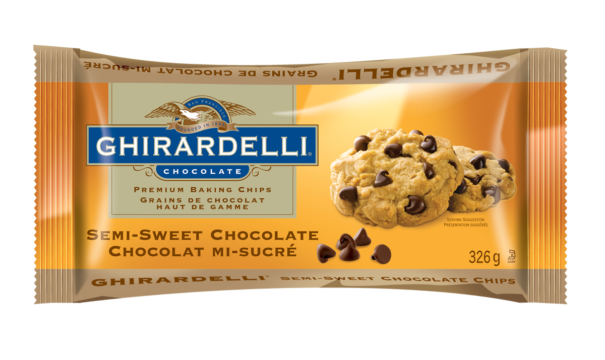 GHIRARDELLI BAKING CHIPS SEMI SWEETT 326G