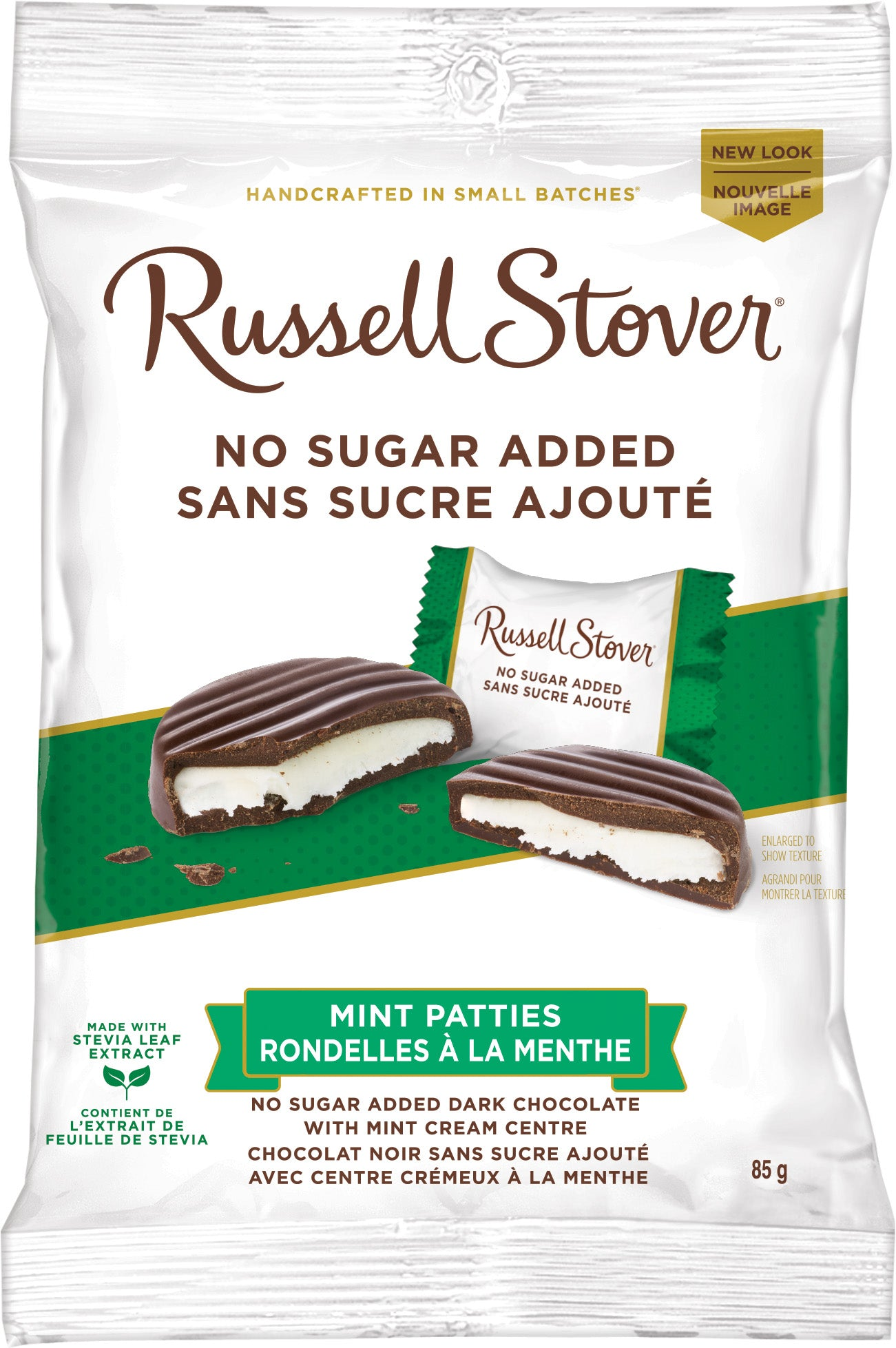 RUSSELL STOVER NSA MINT PATTIES 85G