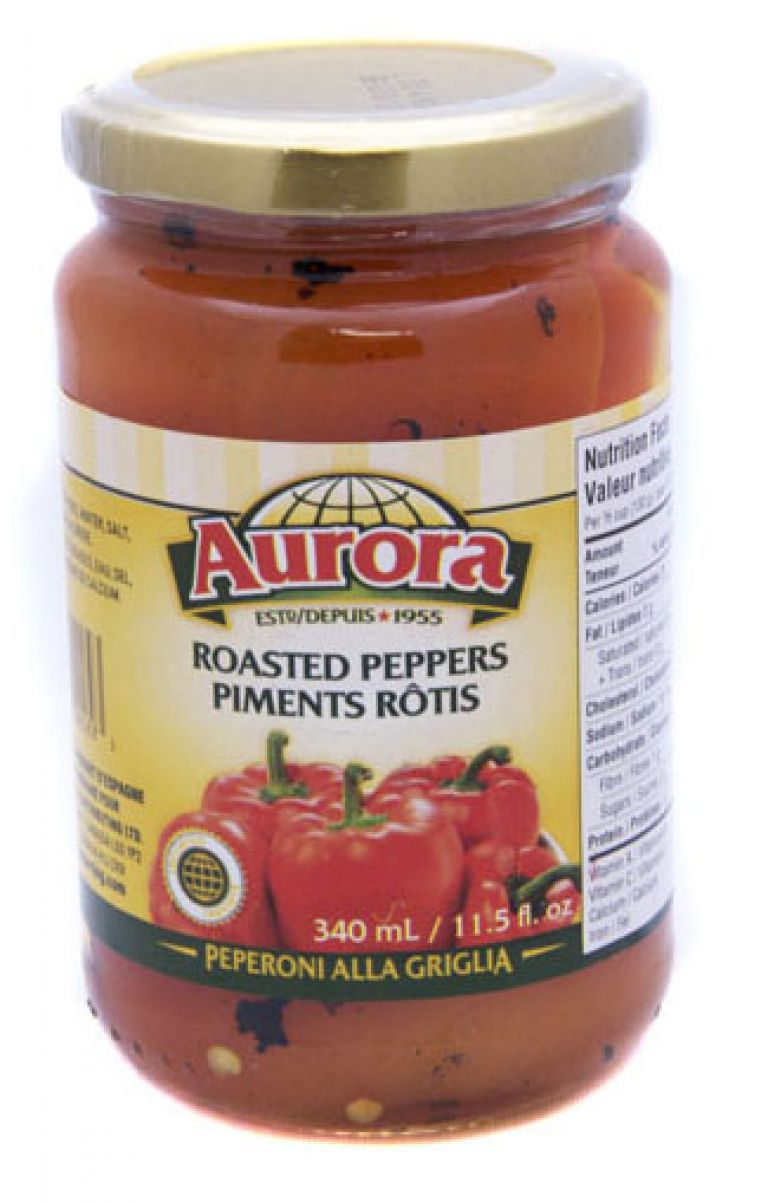 AURORA PEPPERS ROASTED RED 340ML
