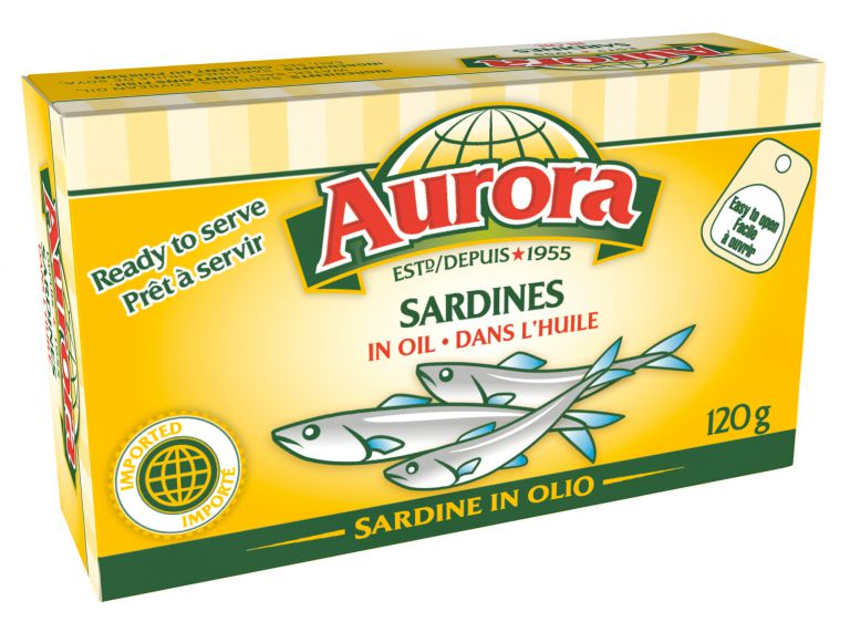 AURORA SARDINES IN OIL 120GR