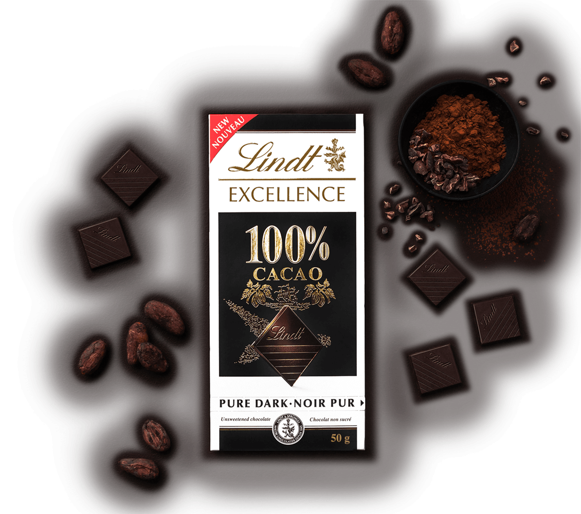 LINDT EXCELLENCE 100% CACAO 50G