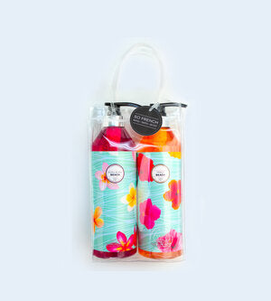 BORA BORA BEACH & MAUI BEACH 2 PC SHOWER GEL BAG SET