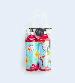 BORA BORA BEACH & SOUTH BEACH 2 PC SHOWER GEL BAG SET