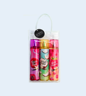 VANILLA 3 PC BODYMIST SET (VANILLA ROSE, VANILLA COCONUT & VANILLA RASPBERRY)