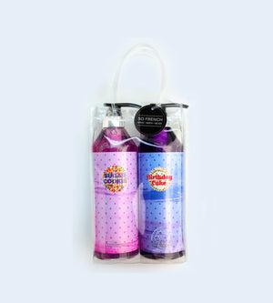 SUGAR COOKIE & BIRTHDAY CAKE 2 PC SHOWER GEL BAG SET
