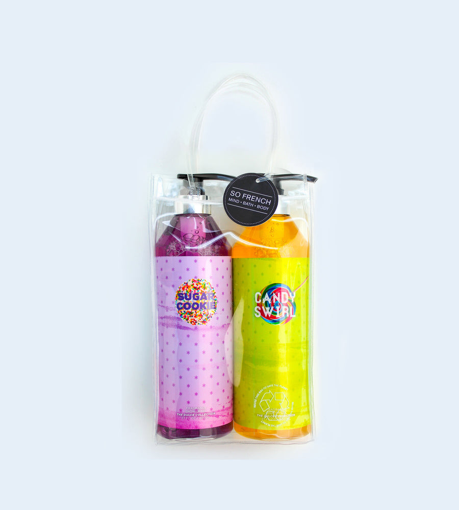 SUGAR COOKIE & CANDY SWIRL 2 PC SHOWER GEL BAG SET