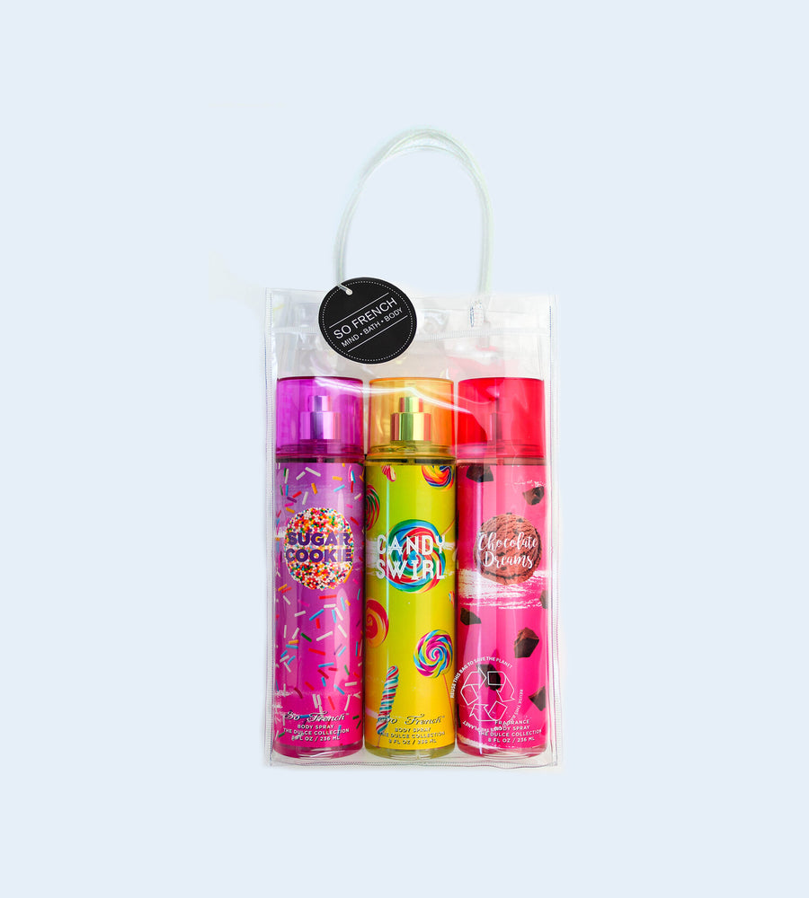 DULCE 3 PC BODYMIST SET (SUGAR COOKIE, CANDY SWIRL & CHOCOLATE DREAM)