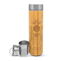 16.9oz LOVE Bamboo Water Bottle