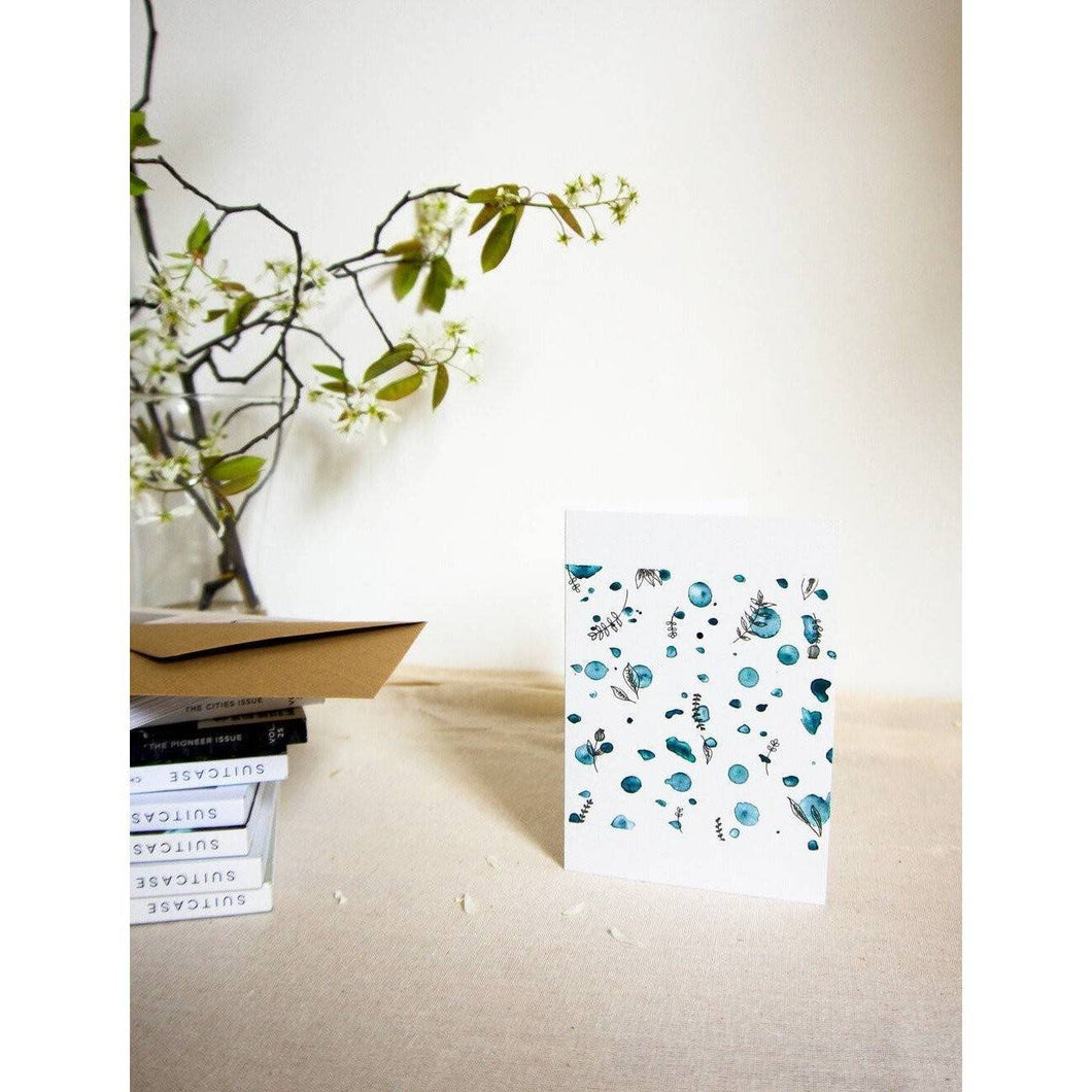 Paint Flowers Greetings Card