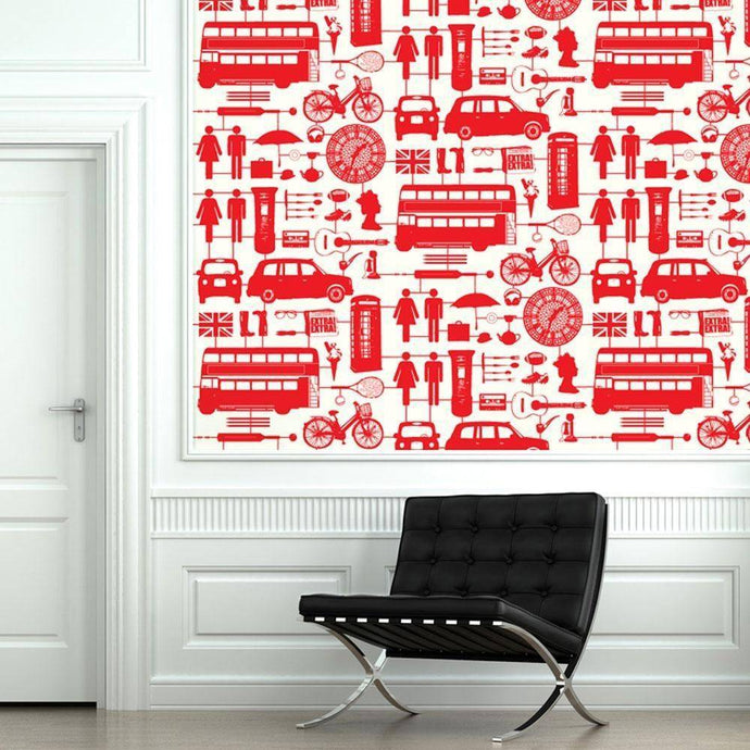 airfix london wallpaper red - Bezar