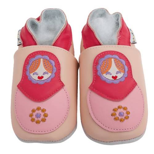 Soft Leather Baby Shoes - Matriochka
