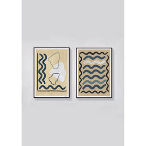 Waves Set of 2 Art Prints