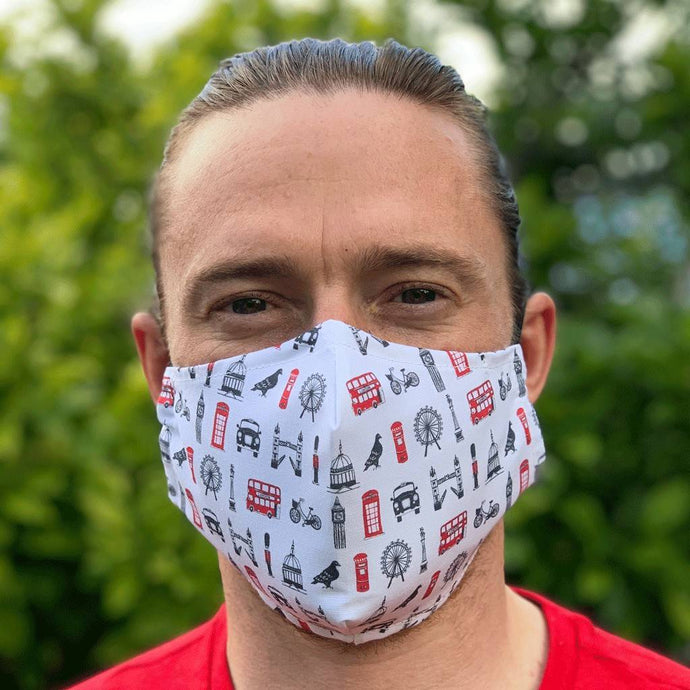 London Icons Fitted fabric Face Mask - Bezar