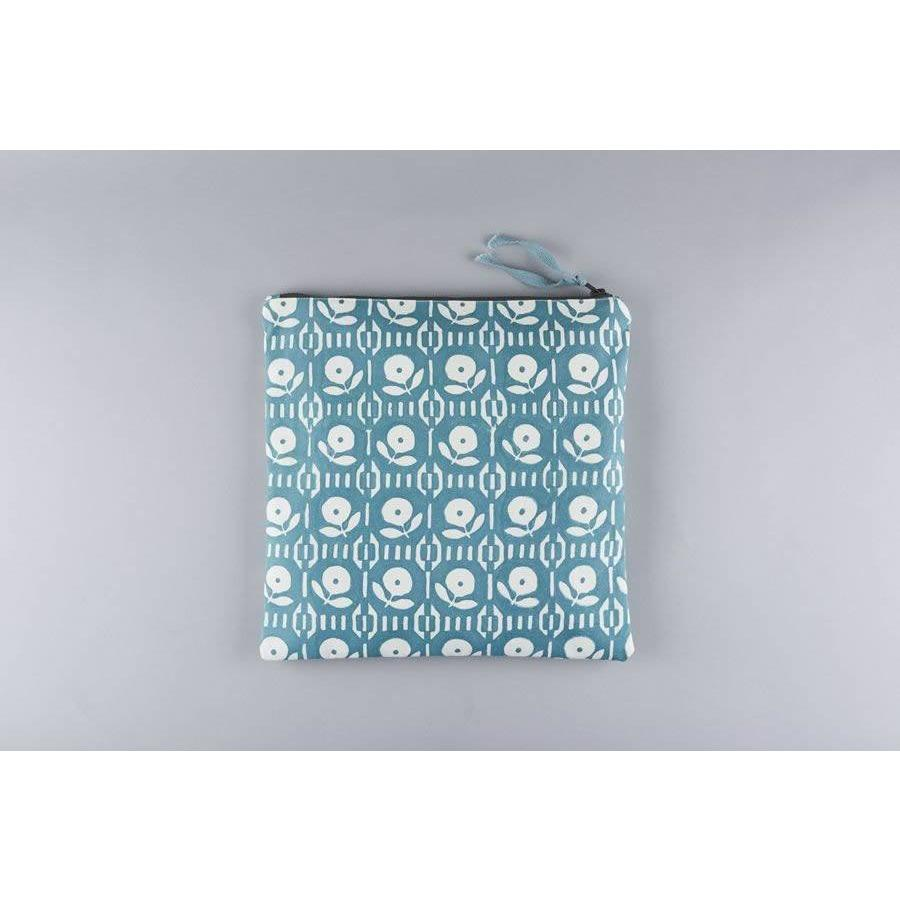 ARPORA vintage floral design large cotton canvas wash bag - Bezar