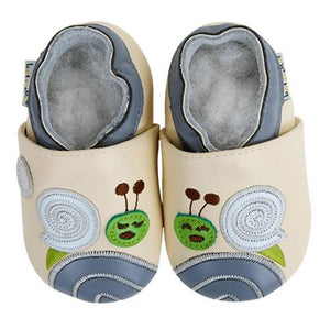 Soft Leather Baby Shoes - Snail Dodo