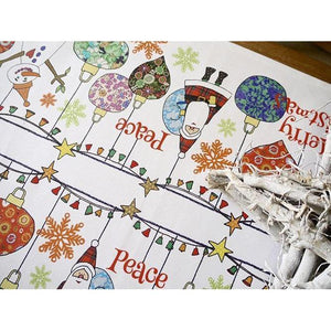 Merrily on High Ornaments | Table Runner - Bezar