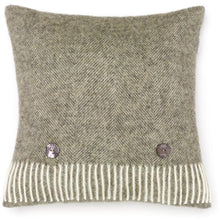 Load image into Gallery viewer, Herringbone Wool Cushion Moss