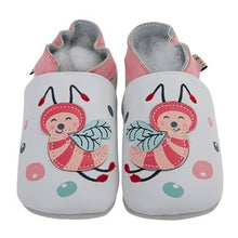 Load image into Gallery viewer, Soft Leather Baby Shoes - Bees