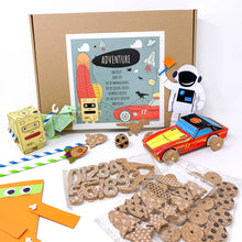 Load image into Gallery viewer, Jumbo Box Adventure - Craft Kit for kids, from 6-8 years