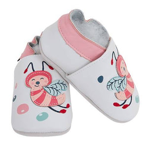 Soft Leather Baby Shoes - Bees