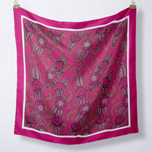 Load image into Gallery viewer, Silk Scarf In Pink Henna