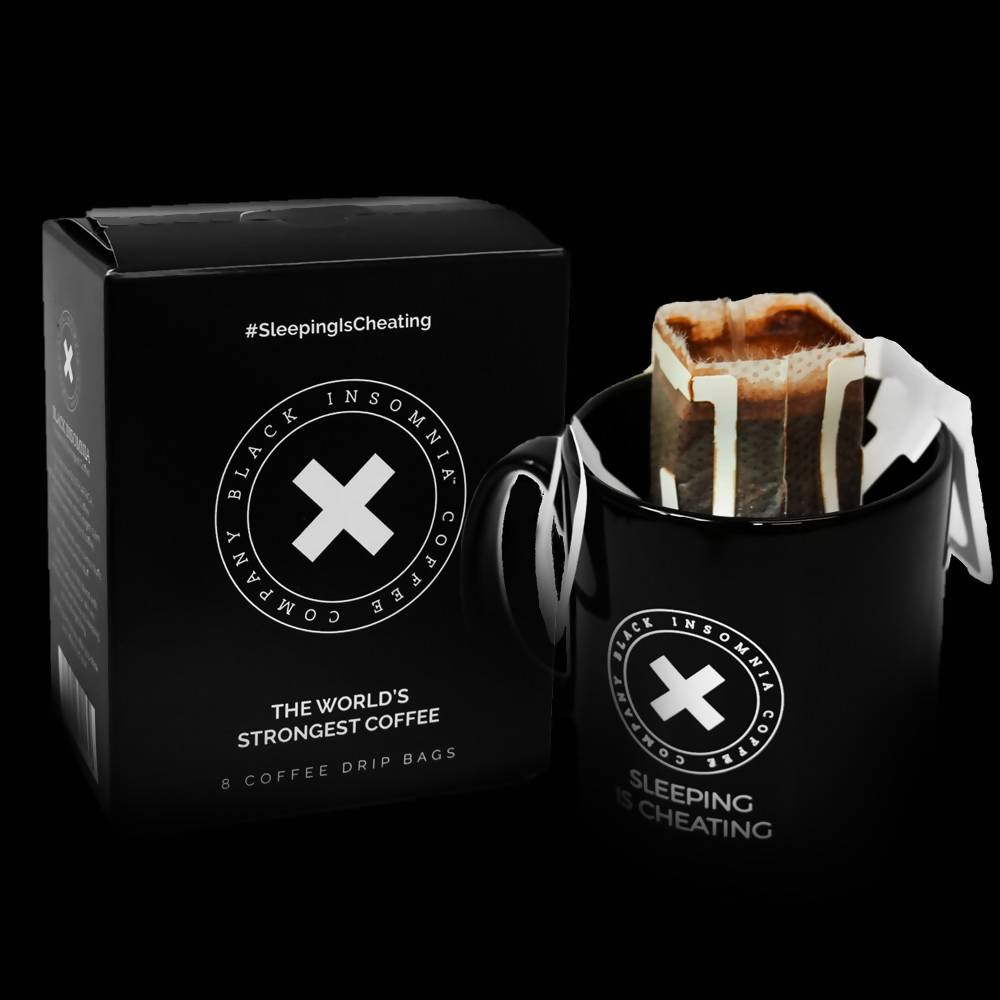 Black Insomnia Coffee Pour-Over Bags
