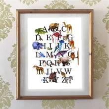 Load image into Gallery viewer, Animal Alphabet | Art Print - Bezar