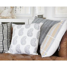 Load image into Gallery viewer, ANJUNA paisley design cushion cover smokey grey - Bezar
